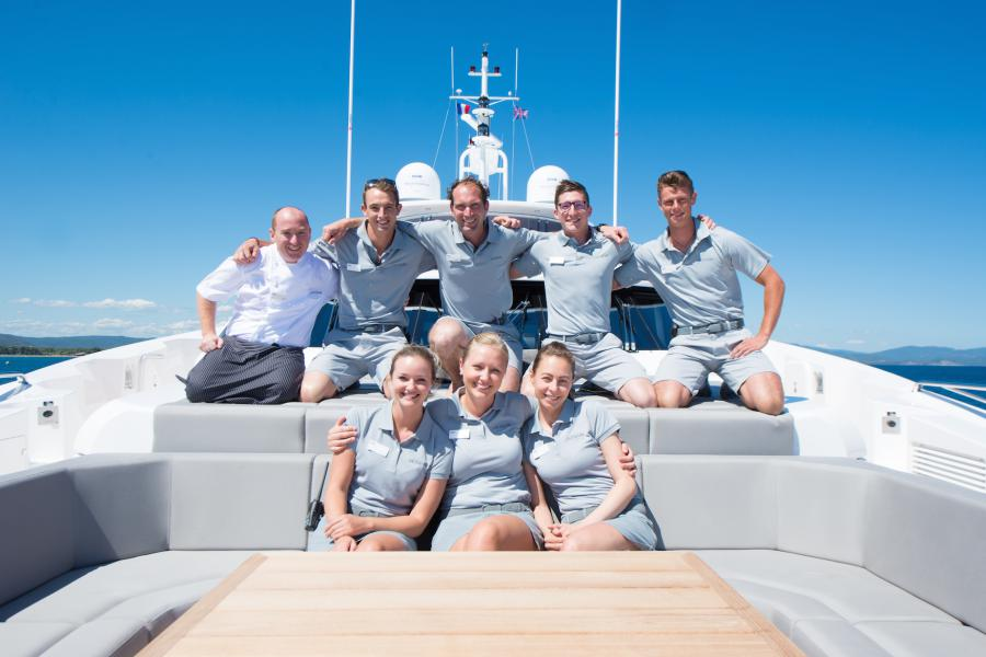 SYM Superyacht Management Sunseeker 131 Yacht Jacozami Crew